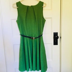 ModCloth Luck Be A Lady A-Line Dress in Fern